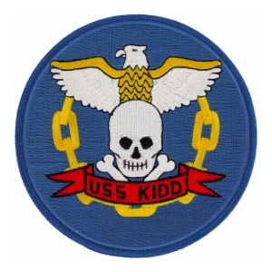 USS Kidd DD-661 Ship Patch
