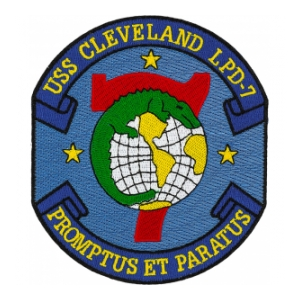 USS Cleveland LPD-7 Ship Patch