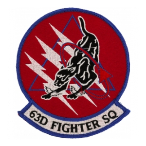 63rd Fighter Squadron Patch