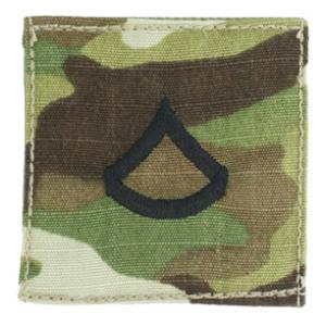 Army Private First Class with Velcro Backing (Multicam w/Black)