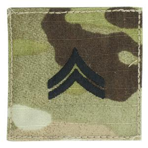 Army Corporal with Velcro Backing (Multicam w/Black)