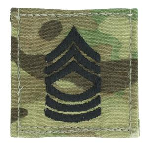 Army Master Sergeant with Velcro backing (Multicam w/Black)