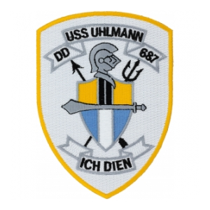 USS Uhlmann DD-687 Ship Patch
