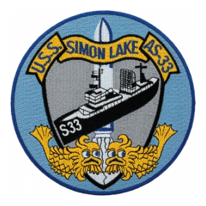 USS Simon Lake AS-33 Ship Patch