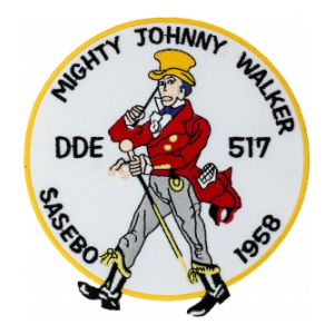USS Johnny Walker DDE-517 Ship Patch