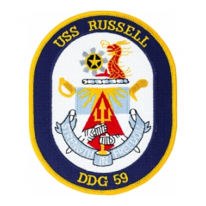 USS Russell DDG-59 Ship Patch