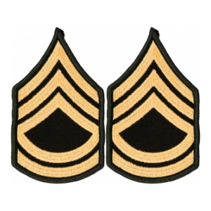 Army Sergeant First Class Chevron Gold Green Female