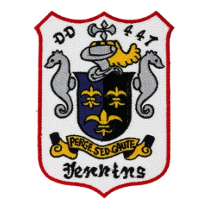 USS Jenkins DD-447 Ship Patch