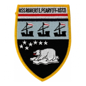 Uss Robert E Peary Ff 1073 Ship Patch Flying Tigers Surplus