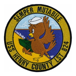 USS Henry County LST-824 Ship Patch