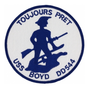 USS Boyd DD-544 Ship Patch