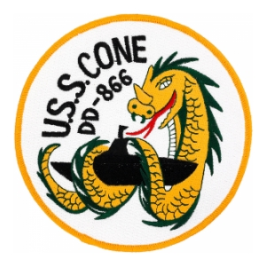 USS Cone DD-866 Ship Patch