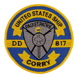 USS Corry DD-817 Ship Patch