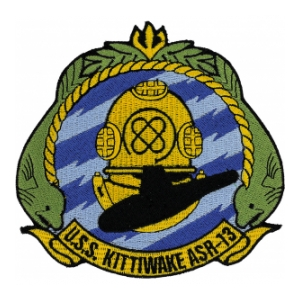 USS Kittiwake ASR-13 Ship Patch