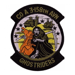 A Company 3 158th Aviation Patch (Ghost Riders)