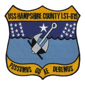 USS Hampshire County LST-819 Ship Patch