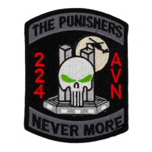 2nd Battalion 224th Aviation Regiment Punishers Patch w/Velcro