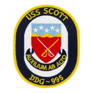 USS Scott DDG-995 Ship Patch