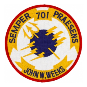 USS John W. Weeks DD-701 Ship Patch