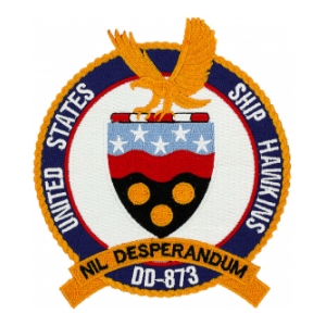 USS Hawkins DD-873 Ship Patch