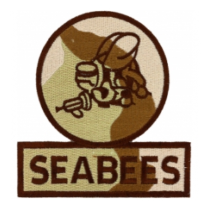 Seabees Patch (Desert Camo)