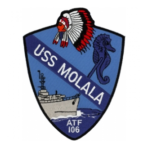 USS Molala ATF-106 Ship Patch