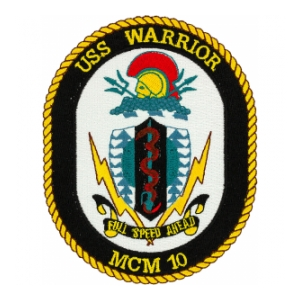 USS Warrior MCM-10 Ship Patch