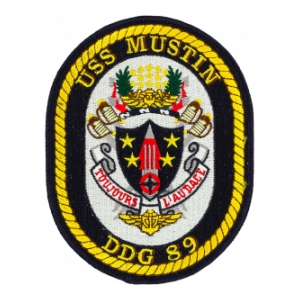 USS Mustin DDG-89 Ship Patch