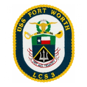 USS Fort Worth LCS-3 Ship Patch