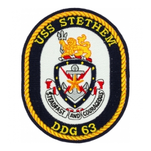 USS Stethem DDG-63 Ship Patch