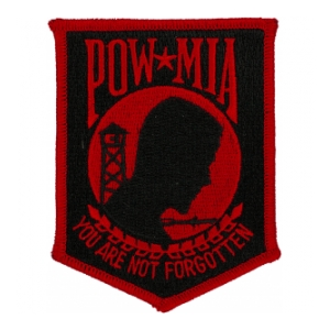POW * MIA Patch (Black & Red - Large)