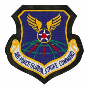 Air Force Global Strike Command Patch (w/ Leather & Velcro)
