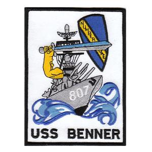 USS Benner DD-807 Ship Patch