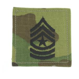 Army Sergeant Major with Velcro Backing (Multicam)