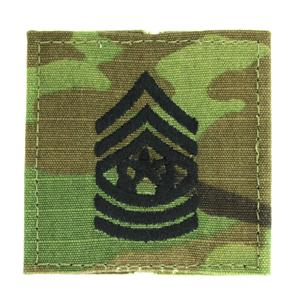 Army Command Sergeant Major with Velcro Backing (Multicam)