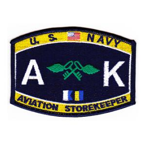 USN RATE AK Aviation Storekeeper Patch