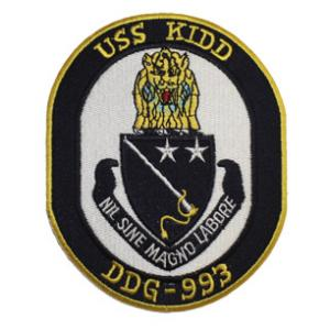 USS Kidd DDG-993 Ship Patch