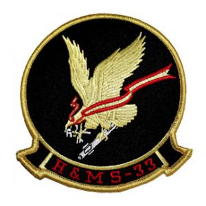 Marine Headquarters and Maintenance Squadron H&MS -33 Patch
