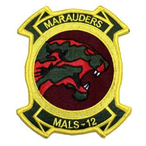 Marine Aviation Logistics Squadron MALS-12 Patch (MARAUDERS)