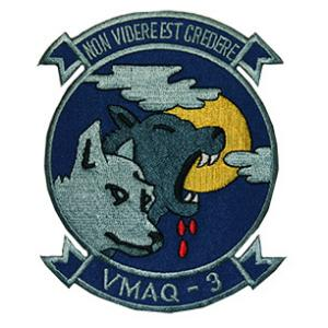 Marine Tactical Electronic Warfare Squadron VMAQ-3 Patch