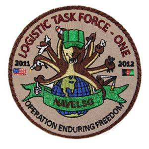 Logistic Task Force One NAVELSG Operation Enduring Freedom 2011-2012 Patch (Velcro)