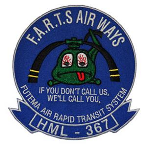Marine Light Helicopter Squadron HML-367 Patch (FUTEMA AIR RAPID TRANSIT SYSTEM)