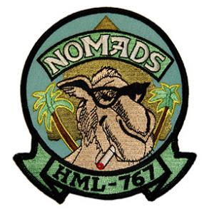 Marine Light Helicopter Squadron HML-767 Patch (NOMADS)