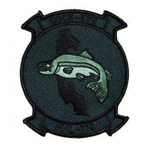 Marine Light Helicopter Squadron HML-770 Patch (SOCK-EYE) (Green)