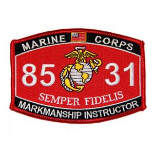 USMC MOS 8531 Marksmanship Instructor Patch