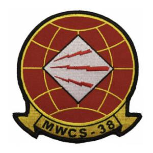 Marine Wing Communications Squadron MWCS	-38 Patch