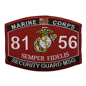 USMC MOS 8156 Security Guard MSG Patch