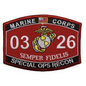 USMC MOS 0326 Special Ops Recon Patch