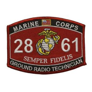 USMC MOS 2861 Ground Radio Technician Patch
