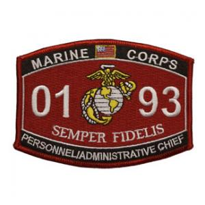USMC MOS 0193 Personnel / Administrative Chief Patch